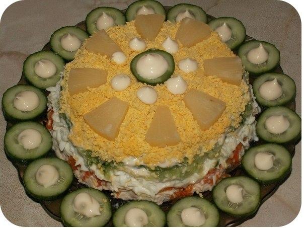 Фото к рецепту: Салат нежное облако