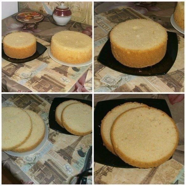 Фото к рецепту: �деальный пышный бисквит для тортов