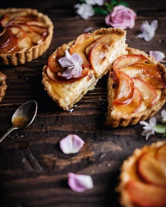 Тарталетки с карамелизированными яблоками 0