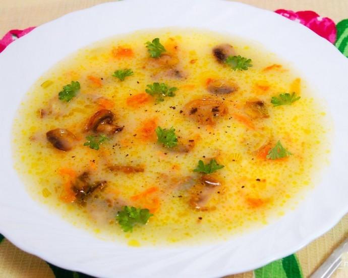 Картофельный суп-пюре с шампиньонами 0