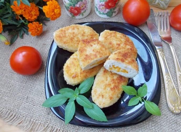Зразы из курицы с начинкой из моркови и сыра 0