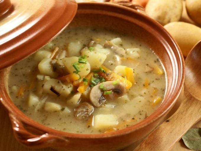 Суп с фасолью, грибами и мясом 0