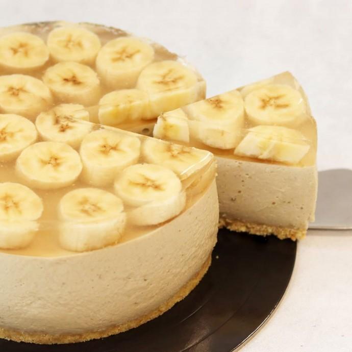 Банановый чизкейк без выпечки 0