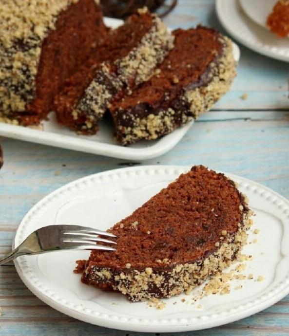 Датский шоколадный пирог с изюмом