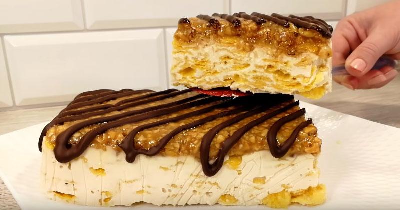 Карамельный торт без выпечки 0