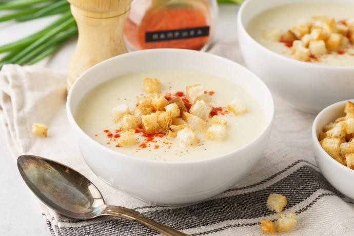 Картофельный крем-суп с сыром