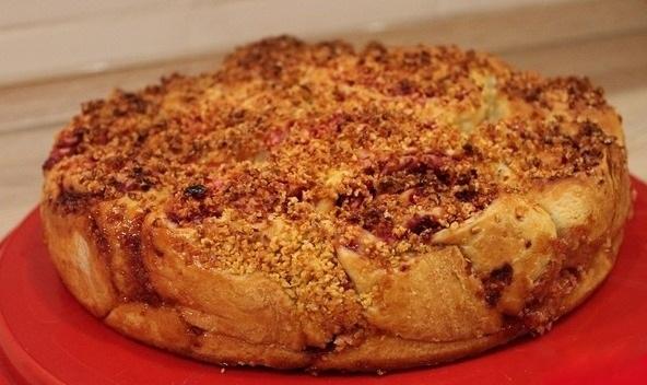 Пирог с яблоками, клюквой и цедрой апельсина 0