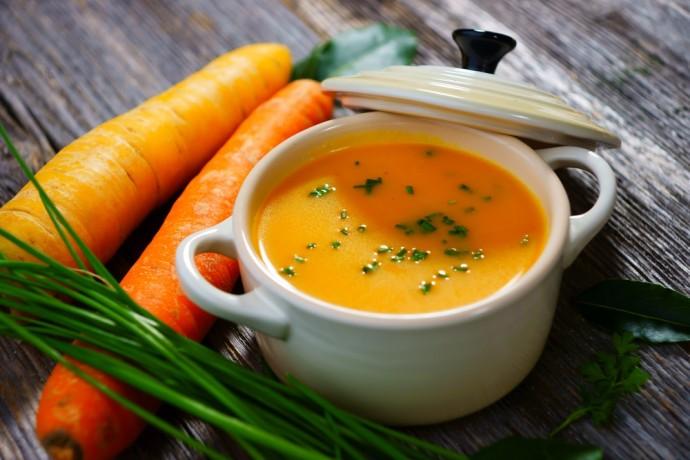 Суп из тыквы, моркови и имбиря