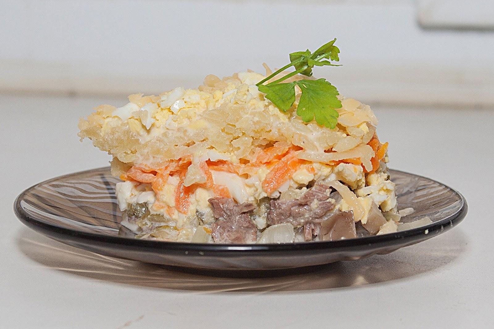 варит слоеные мясные салаты рецепты с фото способ